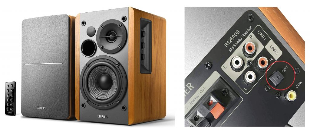 Edifier R1280DB - speakers with an optical input